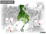 2020年10月29日の兵庫県の実況天気