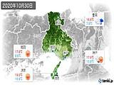 2020年10月30日の兵庫県の実況天気