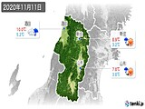 2020年11月11日の山形県の実況天気