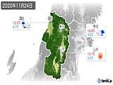 2020年11月24日の山形県の実況天気