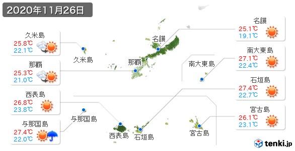 沖縄県(2020年11月26日の天気