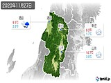2020年11月27日の山形県の実況天気