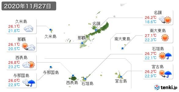 沖縄県(2020年11月27日の天気