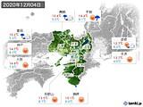 2020年12月04日の近畿地方の実況天気