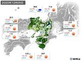 2020年12月05日の近畿地方の実況天気