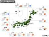 2020年12月06日の実況天気