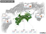 2020年12月13日の四国地方の実況天気