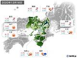 2020年12月16日の近畿地方の実況天気