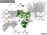 2020年12月18日の近畿地方の実況天気