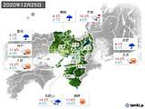 2020年12月25日の近畿地方の実況天気