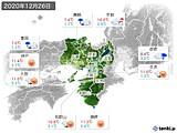 2020年12月26日の近畿地方の実況天気