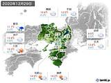 2020年12月29日の近畿地方の実況天気