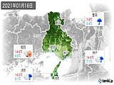 実況天気(2021年01月16日)