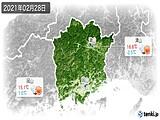 2021年02月28日の岡山県の実況天気