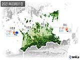 2021年03月01日の香川県の実況天気