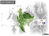 2021年03月01日の佐賀県の実況天気
