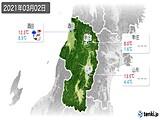 2021年03月02日の山形県の実況天気