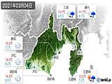 2021年03月04日の静岡県の実況天気