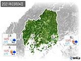 2021年03月04日の広島県の実況天気