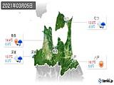 2021年03月05日の青森県の実況天気