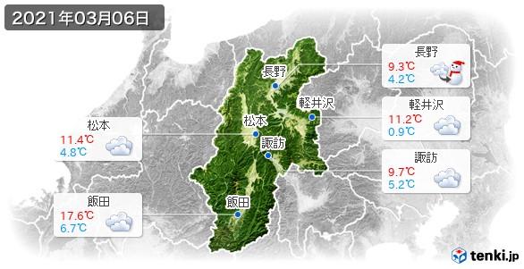長野県(2021年03月06日の天気