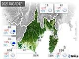 2021年03月07日の静岡県の実況天気