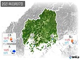 2021年03月07日の広島県の実況天気