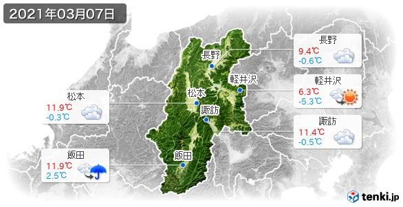 長野県(2021年03月07日の天気