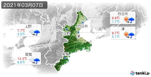 三重県(2021年03月07日の天気