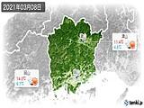 2021年03月08日の岡山県の実況天気