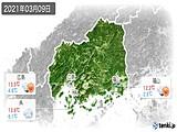 2021年03月09日の広島県の実況天気