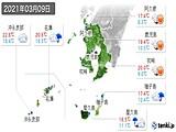 2021年03月09日の鹿児島県の実況天気