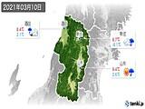 2021年03月10日の山形県の実況天気