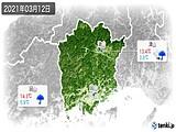 2021年03月12日の岡山県の実況天気