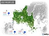 2021年03月12日の山口県の実況天気