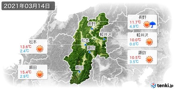長野県(2021年03月14日の天気