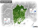 2021年03月16日の岡山県の実況天気