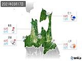 2021年03月17日の青森県の実況天気