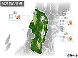 2021年03月19日の山形県の実況天気