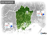 2021年03月20日の岡山県の実況天気