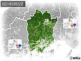 2021年03月22日の岡山県の実況天気