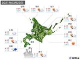 2021年03月23日の北海道地方の実況天気