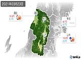 2021年03月23日の山形県の実況天気