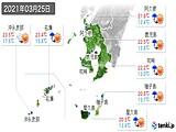 2021年03月25日の鹿児島県の実況天気
