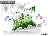 2021年03月28日の香川県の実況天気