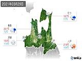 2021年03月29日の青森県の実況天気