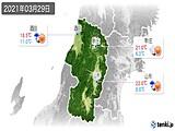 2021年03月29日の山形県の実況天気