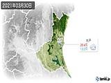 2021年03月30日の茨城県の実況天気