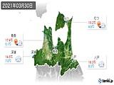 2021年03月30日の青森県の実況天気
