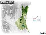 2021年04月01日の茨城県の実況天気